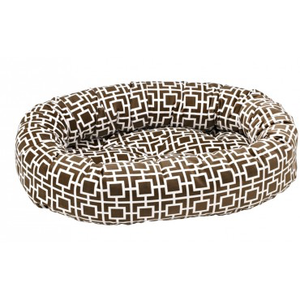 Courtyard Taupe Microvelvet Donut Bed