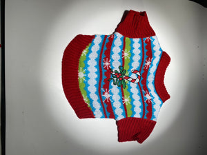 Dog Ugly Christmas Sweater - Candy Cane*.
