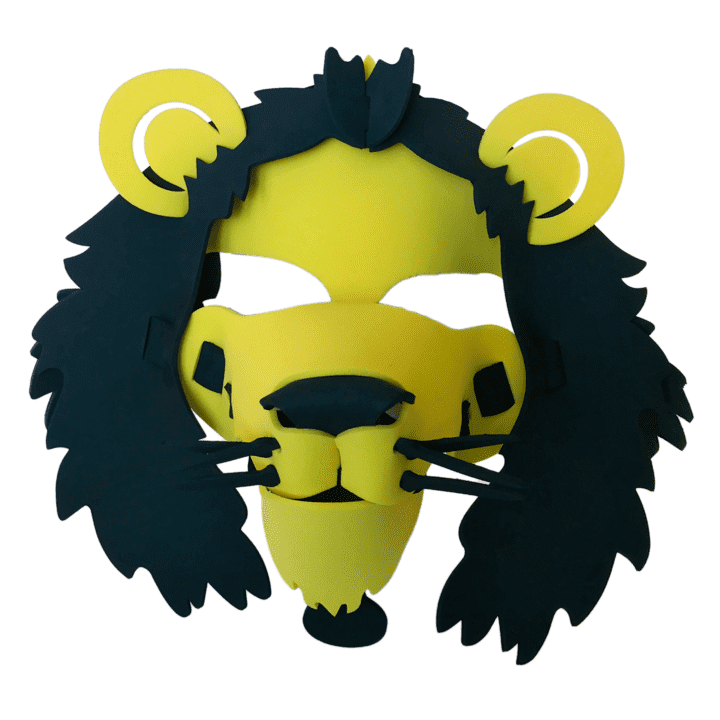 Lion Masks-  Yellow