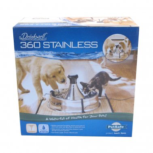 PetSafe® Drinkwell® 360 Stainless Multi-Pet Pet Fountain for Cat & Dog*.