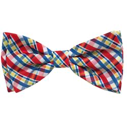 Preppy Plaid Bow Tie