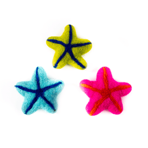 Felted Star Fish Cat Toy