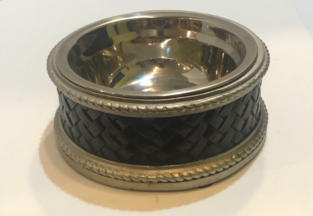 Leather Weave Single Diner