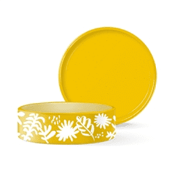 DESERT FLOWER MEDIUM WAX RESIST BOWL*.