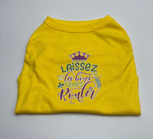 Load image into Gallery viewer, Laissez Les Screen Print Dog Shirt