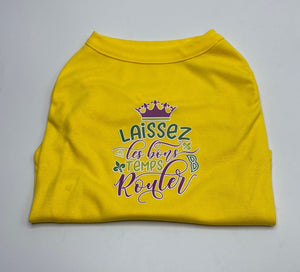 Laissez Les Screen Print Dog Shirt