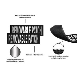 Removable Reflective Patches (Set of 2).