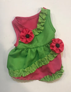 Pink & Green Flower Dress*.