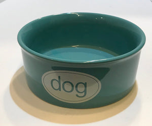 Teal Dog Bowl