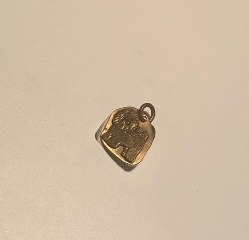 Brass Dog Silhouette Charm*