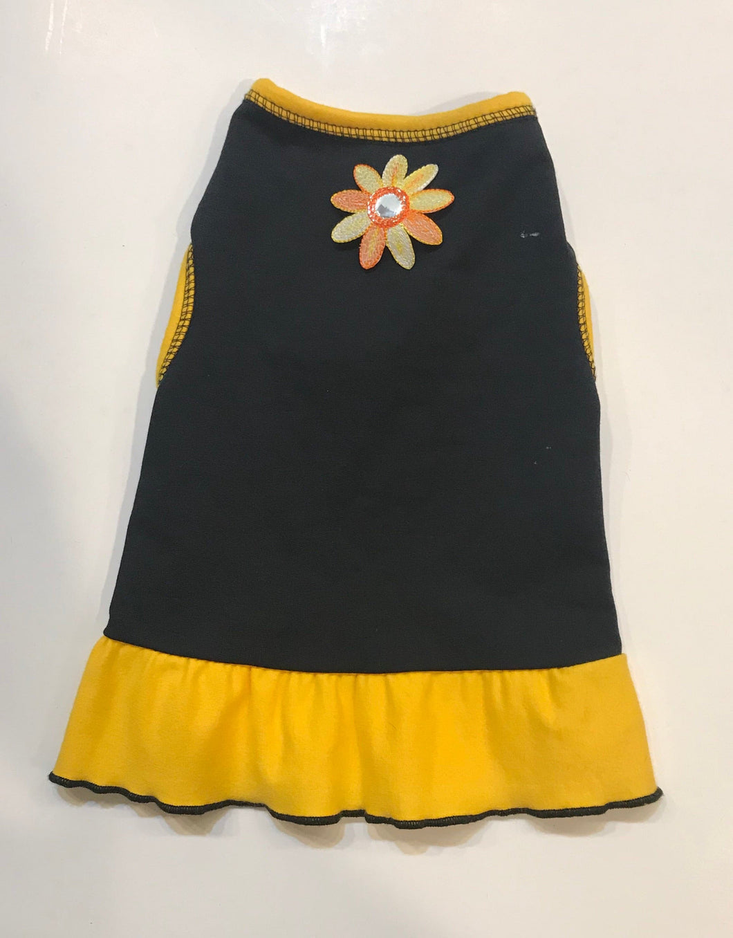 Black & Yellow Flower Dress