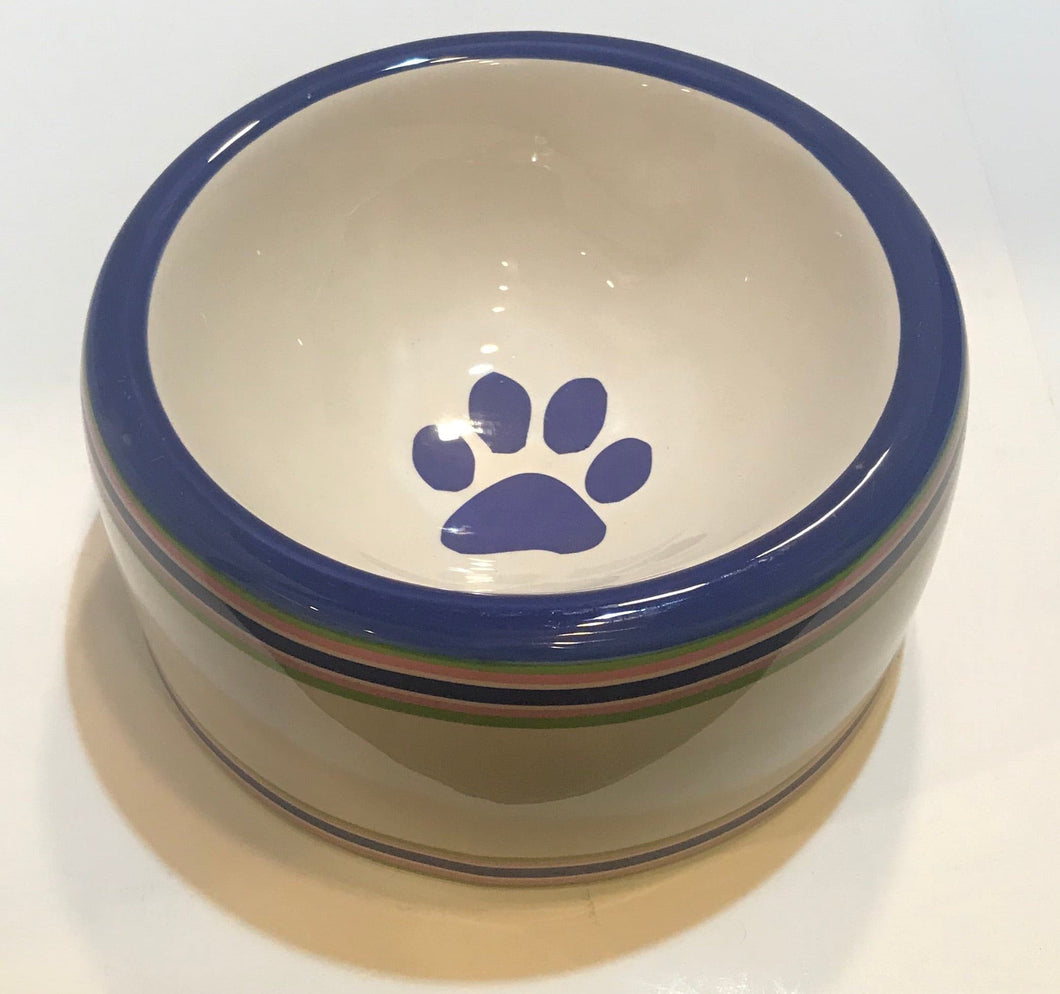 Blue Paw Dog Bowl