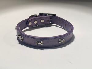 Metal Bone Leather Collar