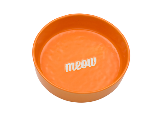 Etched Meow Bowl