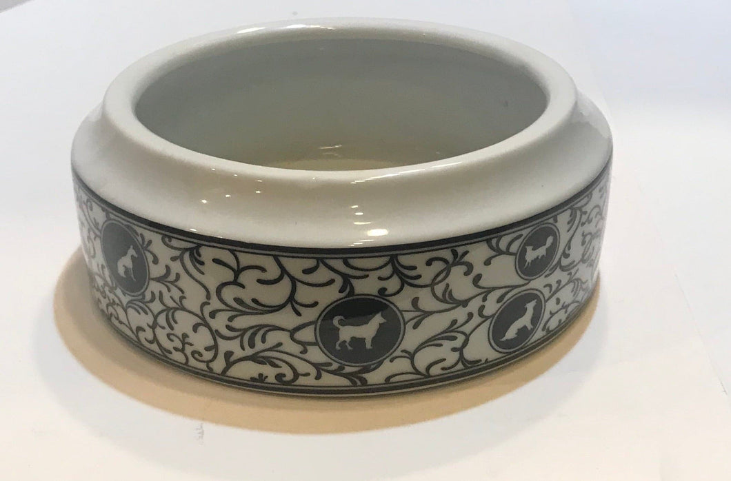 Dog Vine Ceramic Bowl