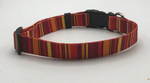 Vertical Stripe Collar orange.