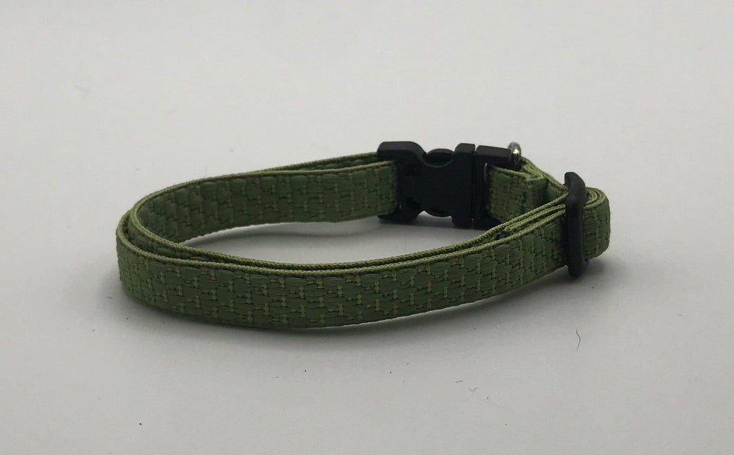 Green Quilted Collar Small*.