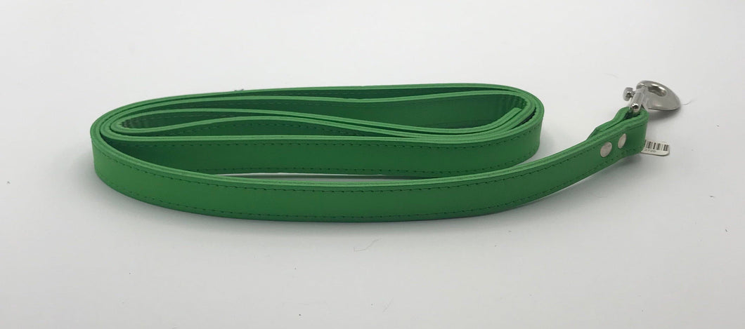 Green Leather Lead 4'.