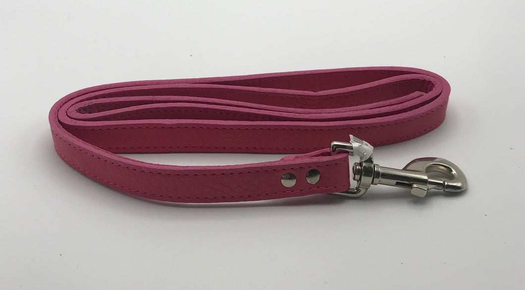 Pink Soft Leather Lead 4' x 3/4