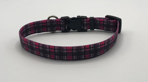 Pink London Plaid Collar and Lead