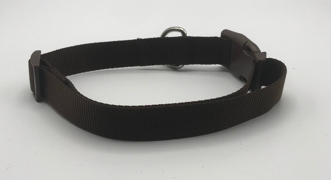 Basic Nylon Collar Brown*.