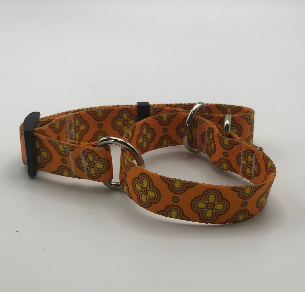 70's Floral Martingale Collar*.