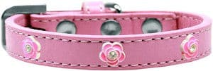 Bright Pink Rose Widget Dog Collar*.