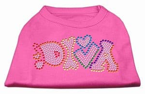 Technicolor Diva Rhinestone Pet Shirt Bright Pink*