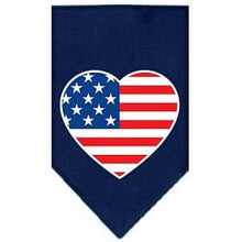 Load image into Gallery viewer, American Flag Heart Screen Print Bandana