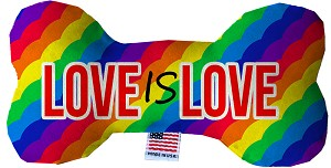 Love is Love  Fluffy Bone Dog Toy*