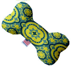 Blue and Yellow Moroccan Patterned 6 inch Bone Dog Toy*.