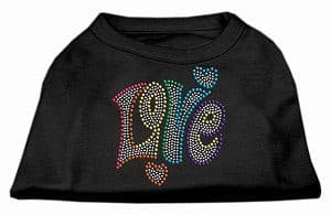 Technicolor Love Rhinestone Pet Shirt
