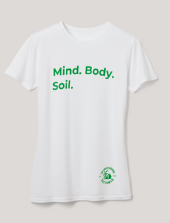 "TGOD Women's T-Shirt ""Mind, Body, Soil"""