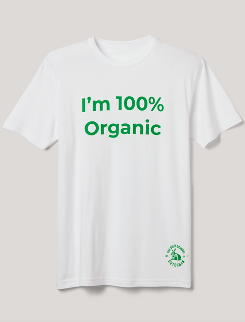 "TGOD Men's T-Shirt ""I'm 100% Organic"""