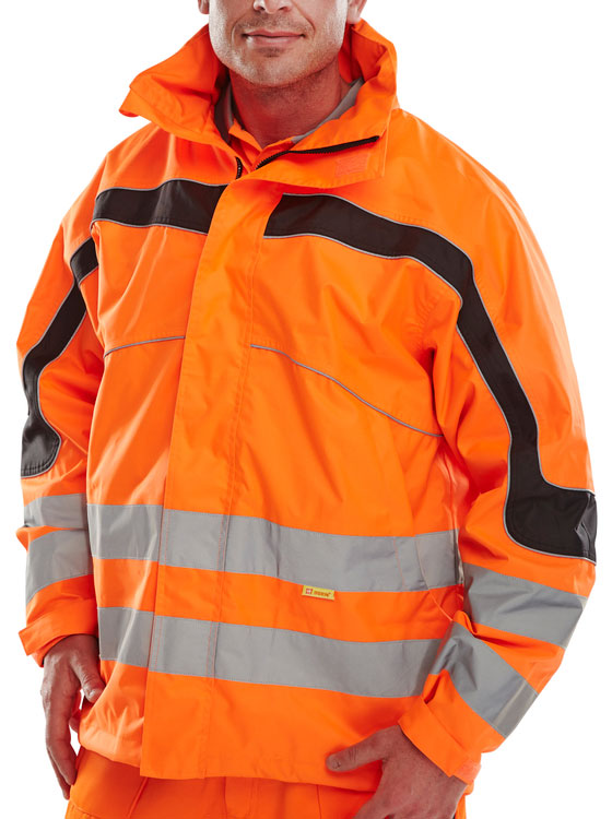 ETON BREATHABLE EN471 JACKET ORANGE | Cavan Safety Supplies