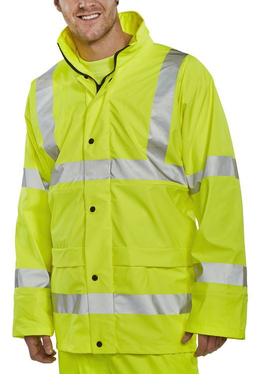 BSEEN PU JACKET YELLOW