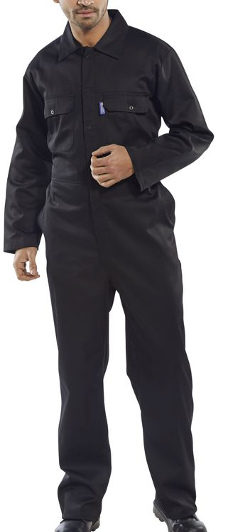 CLICK REGULAR BOILERSUIT BLACK | Cavan Safety Supplies