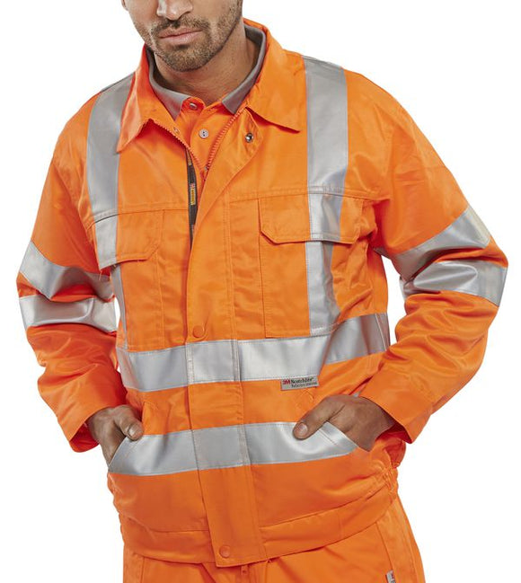 RAILSPEC JACKET ORANGE | Cavan Safety Supplies