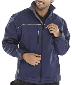 SOFT SHELL JACKET NAVY BLUE | Cavan Safety Supplies