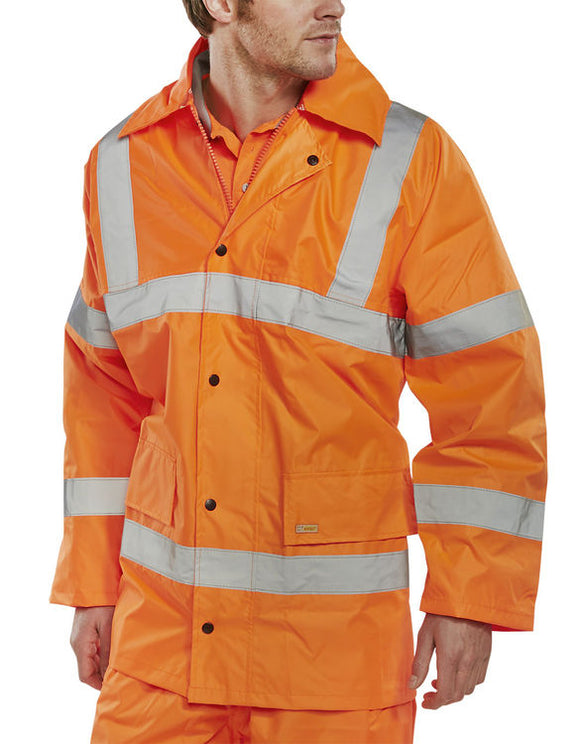 LIGHTWEIGHT EN471 JACKET ORANGE | Cavan Safety Supplies