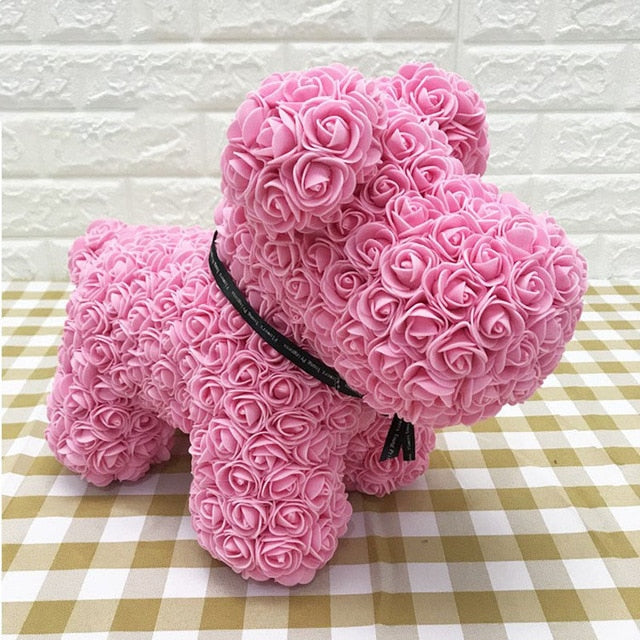 Forever Rose Teddy Dog