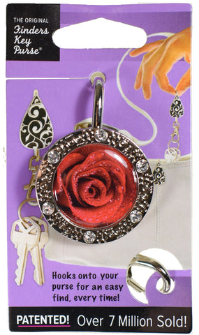 Rose Bling Finders Key Purse on small spaces card