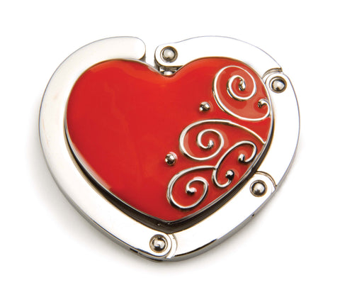Ruby Red Heart Hang 'em High Purse Hanger (SKU: 07-029) **New Packaging**
