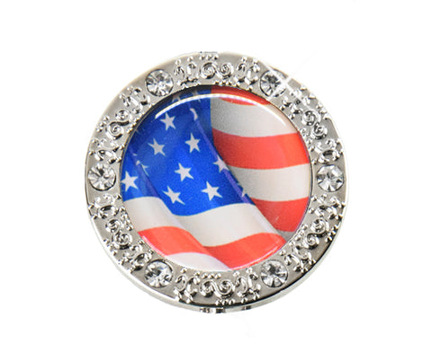 American Flag Bling Finders Key Purse (SKU: 01B-407S)