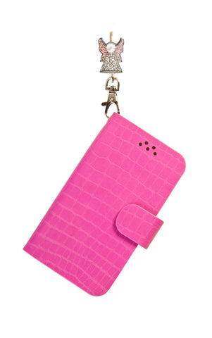 Phone Key'Purse Diary Case - Pink with Angelic (SKU: 05-622-138)
