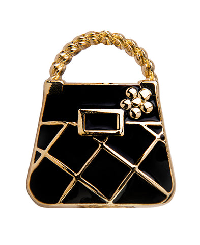*Small Spaces* Gold & Black Purse (SKU: 01A-322)