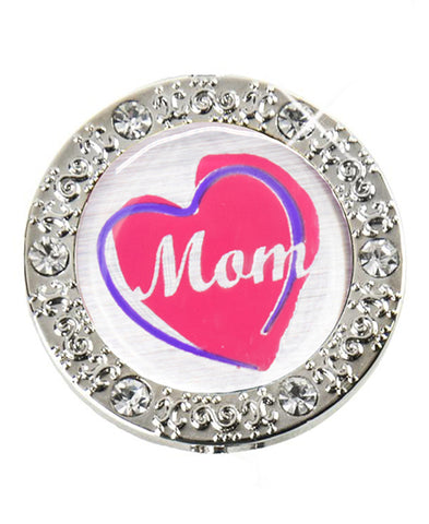 *Small Spaces* Mom's Shining Heart Bling (SKU: 01BA-404)