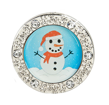 Snowman Bling Finders Key Purse (SKU: 01C-256)
