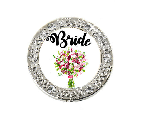 *Small Spaces* Bride Bling Finders Key Purse (SKU: 01BA-405)