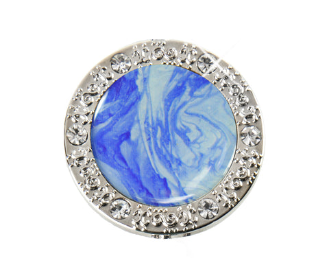 Bling Blue Marble Finders Key Purse® (SKU: 01B-005)